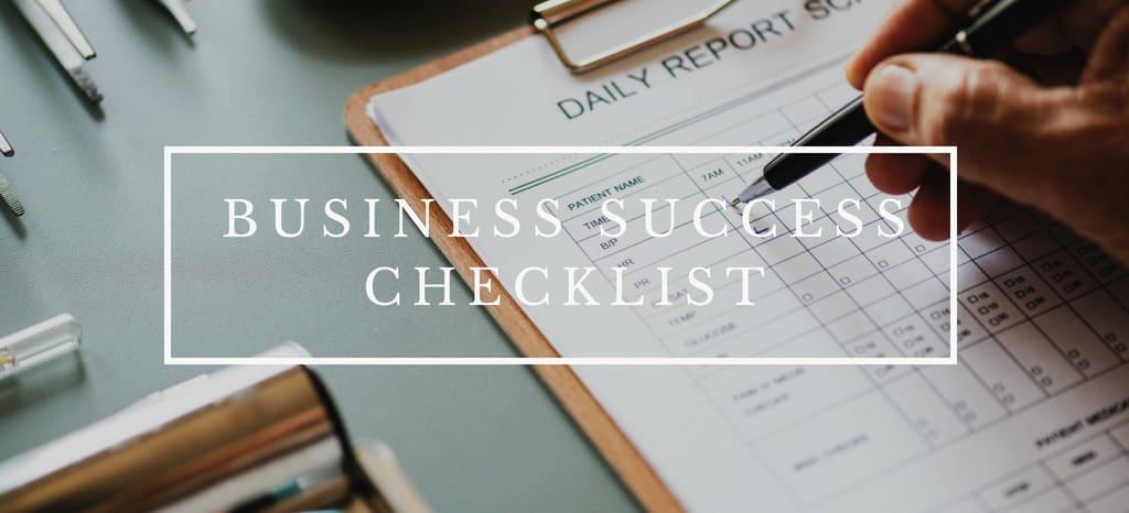 Your Business Success Checklist